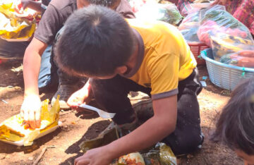Entrega de Bolsas de Verduras en Guatemala